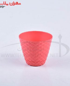 گلدان آناناسی زیردار سایز۱ پلی نیک/۹۰تایی