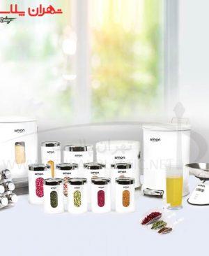 سرویس آشپزخانه گرد ۲۲پارچه سفید لیمون/۱سرویس