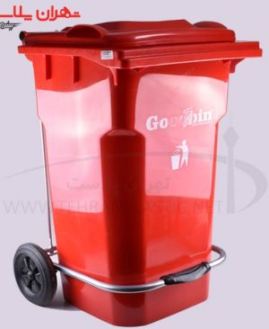 کد۶۵۸۱مخزن زباله۱۰۰لیتری پدالی چرخدار/۱عددی
